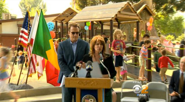 CBSLA.com: Local Couple Gives Disabled Children A Place To Play After Loss Of Son